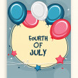 American Independence Day celebration greeting card. — Stock vektor #72731075