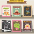 Collection of stylish birthday party flyers. — Stock Vector #72993391