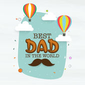 Stylish greeting card for Happy Fathers Day celebration. — Stock vektor