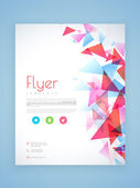 Professional flyer, template or brochure design. — Stock Vector