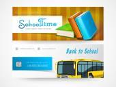 Back to school web header or banner set. — Stock Vector