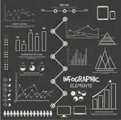 Big set of business infographic elements. — Cтоковый вектор