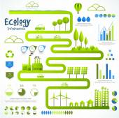Set of ecology infographic elements. — Stock Vector