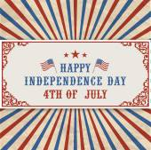 American Independence Day header. — Stock Vector