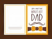 Happy Father's Day celebration greeting card design. — Vecteur