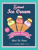 Меню карты, листовки или Брошюра дизайн для мороженого. — Cтоковый вектор