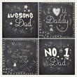 Set of greeting cards for Happy Father's Day. — Stock Vector #74734613
