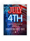 Poster, banner or flyer for American Independence Day. — Stock Vector