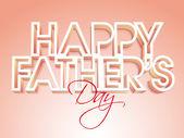 Stilvolle Text für Happy Father's Day celebration. — Stockvektor