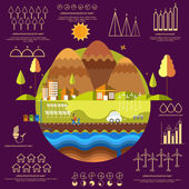 Concept of ecology infographic with statistical graphs. — Stock Vector