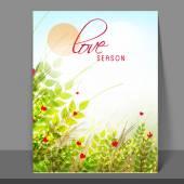 Flyer, banner or template for love season. — Διανυσματικό Αρχείο