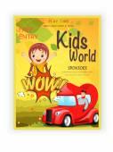 Template,  banner or flyer design for kids world. — Stock Vector
