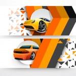 Website automobile header or banner. — Stock Vector #75811289