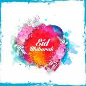 Kreatywnych kwiatowy kartkę z życzeniami eid mubarak. — Wektor stockowy