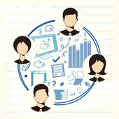 Negócios infográfico modelo de layout. — Vetor de Stock