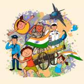 Indian Independence Day celebration concept. — Vettoriale Stock