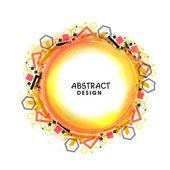 Creative abstract design frame. — Stock Vector