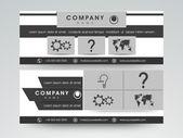 Konzept der Header Webdesign. — Stockvektor