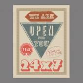 Retro flyer or template for help center. — Stock Vector