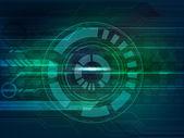 Hi-tech circle for Technology concept. — Stock Vector