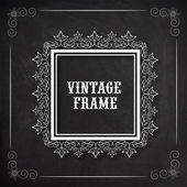 Floral design decorated beautiful Vintage frame. — Stock Vector