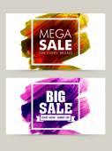 Mega Sale web header or banner set. — Stock Vector