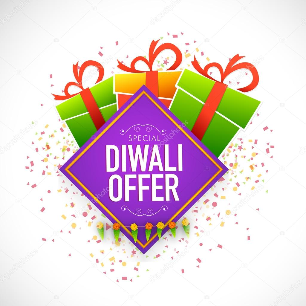 diwali offer poster banner or flyer design stock vector creative poster banner or flyer design shiny colourful gift box and ribbon for special diwali offer vector by alliesinteract