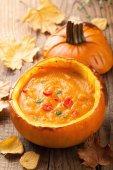 健康的なカボチャ スープ — ストック写真