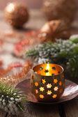 Burning christmas lanterns and decoration — Foto de Stock