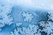 Winter rime background  — Stock Photo