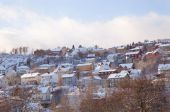 Winter view of houses in Trondheim city Norway  — Stockfoto