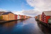 Trondheim cityscape Norway — Stock Photo