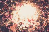 Shiny christmas wreath  — Stock Photo