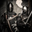Tow medieval knights in full armour — Stock Photo #52445339