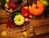 Thanksgiving day autumnal still life — Stock Photo