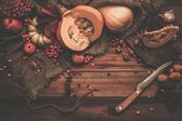 Thanksgiving day autumnal still life — Stock Photo