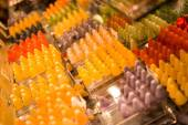 Sweets on market stall  — Stock Photo