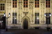 House details on Burg square in Bruges, Belgium  — Stock Photo