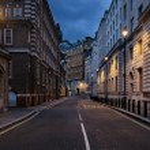 Empty street of London at night — Stock Photo #56718531