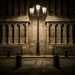 Streetlight in front of old building in Barcelona — Stock Photo #60327049