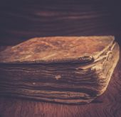 Vintage book close up — Stock Photo