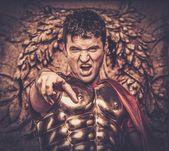 Roman legionary soldier — Stock Photo