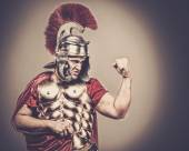 Roman legionary soldier in amour — Stock Photo