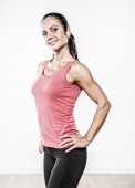 Athletic woman in sport club — Stock Photo