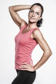 Athletic kvinna i sport club — Stockfoto