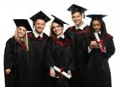 Multi ethnic group of graduated students — Fotografia Stock