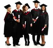 Multi ethnic group of graduated students — 图库照片
