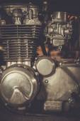 Cafe-racer motorcycle engine — Foto Stock