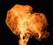 Burning flame on black background — Stock Photo