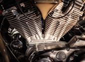 Close-up of a motorcycle engine  — Stock Photo